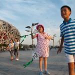 Zona olímpica de Beijing.